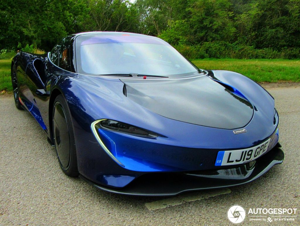 Fotos Mclaren Speedtail Azul