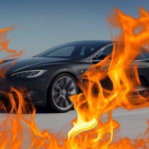 Tesla pegando fogo